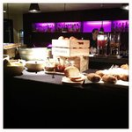Breakfast in the Bar area. Great selection of pastries, fruit, granola and juices.