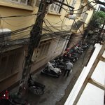 the hotel entrance is at a narrow lane (view from my room)