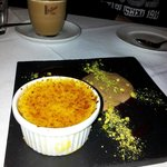 White chocolate brulee