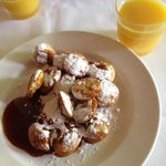 Poffertjes as breakfast