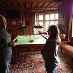 James showing us the Billiards room
