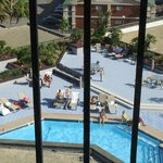 pool from elevator window