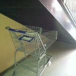 nice cart hidden under the stairs
