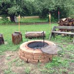 Beautiful Fire Pit/Cooking Area