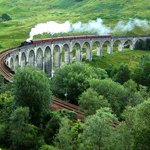 The Glenfinnan  Viaduct, of Harry Potter fame