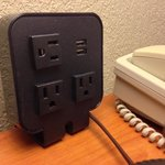 power ports next to bed. (every hotel should have these)