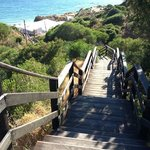 steps to lovely beach and cafe 5 min walk fom hotel