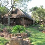The main Lodge on Caracal.