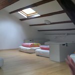 Dormitory beds on the attic