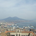 Naploi with Vesuvius in the distance