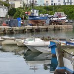 Brixham harbour, 5 mins away