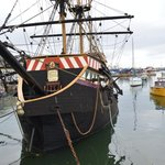 Golden Hind replica, Brixham harbour, 5 mins away