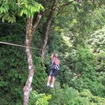 The zipline though the jungle canopy was great. Highly recommend it.
