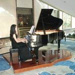 Grand piano in the lobby