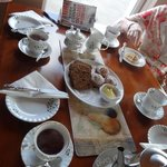 Afternoon tea and coffee -- and more (that was very delicious)!