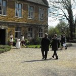 some of our guests arriving at our wedding on 27th April 2013