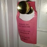 """Although they have """"Do Not Disturb"""" signs... they don't actually obey them."""