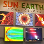 An image from NCAR's Sun-Earth Connection exhibit