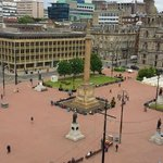 The view of George Square from our terrace!!