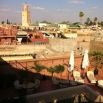 View from the riad's rooftop terrace