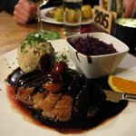 Duck with Dumplings & Red Cabbage