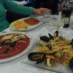 The food at nearby Ristorante la Cantina del Mare