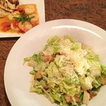 Caesar Salad with Grilled Shrimp Side