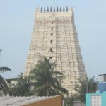 view of rameswaram temple from 2nd floor of the hotel.
