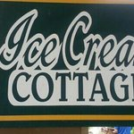 ice cream cottage sign