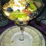 Chris' famous granola with Greek Yogurt and fresh fruit *Heavenly*