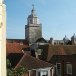 View of Portsmouth Cathedral from bedroom window.