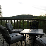 View from deck over looking beautiful lake of bays
