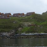 View of Kylesku Lodges from the loch