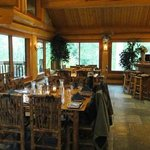 The Dinning Area in the Lodge at Bull River Guest Ranch