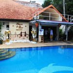 View of the Homestay and Pool