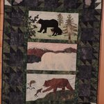 Wonderful quilts and art displayed throughout lodge