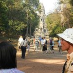 At Angkor Wat from the rear entrance avoiding the crowds...