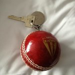 cricket ball keyring!