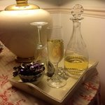 Sherry decanter in each room