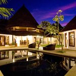 3 bedroom villa at night
