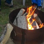 Fire Pit  with lots of free fire wood