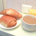 My breakfast, purchased from the bakery opposite