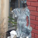 Statue in front of office