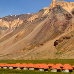 Goldrop Camps at Sarchu (Mid way Manali - Leh)