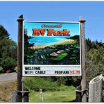 RV Park Sign on Cape Arago Hwy
