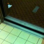 Broken elevator - not even with floor.