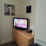 TV and DVD player in flat 3