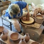 the potter at work