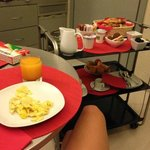 breakfast in our room