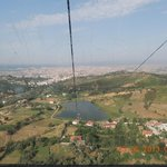 View from the cable car on route from Belvedere hotel to Tirana